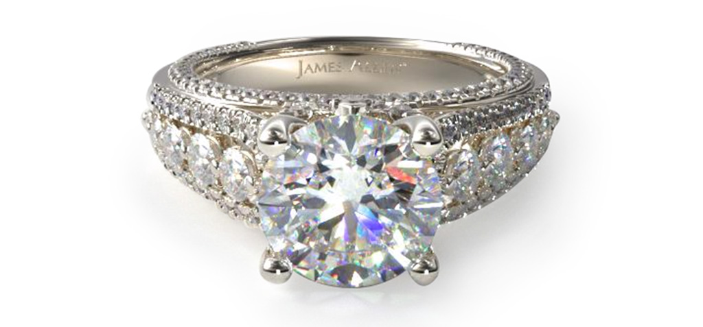 Stunning Pave Engagement Rings