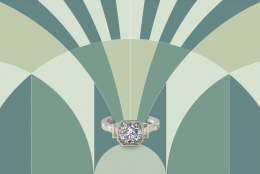 14 Art Deco Engagement Rings for Valentine's Day