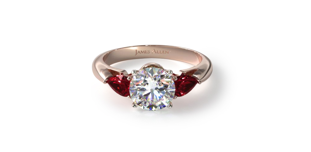red ruby engagement ring