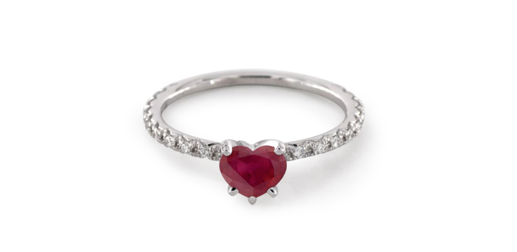 red ruby engagement rings
