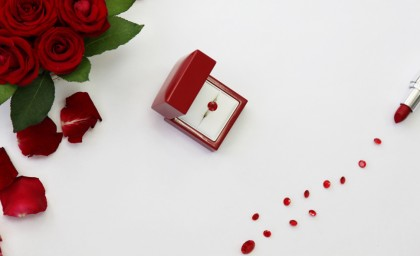 Radiant Red Ruby Engagement Rings