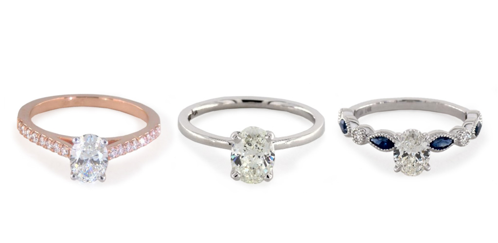 diamond shapes - Oval rings