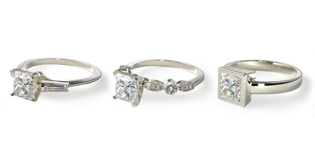 Princess cut rings