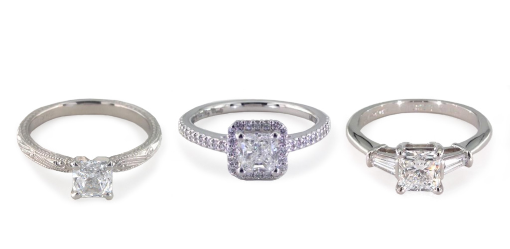 Radiant cut rings