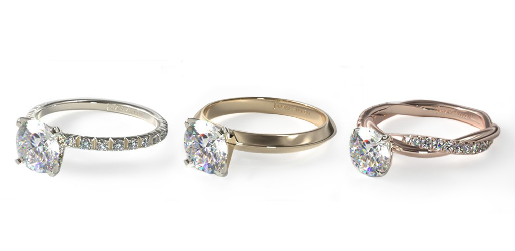 diamond shapes - Round diamond rings