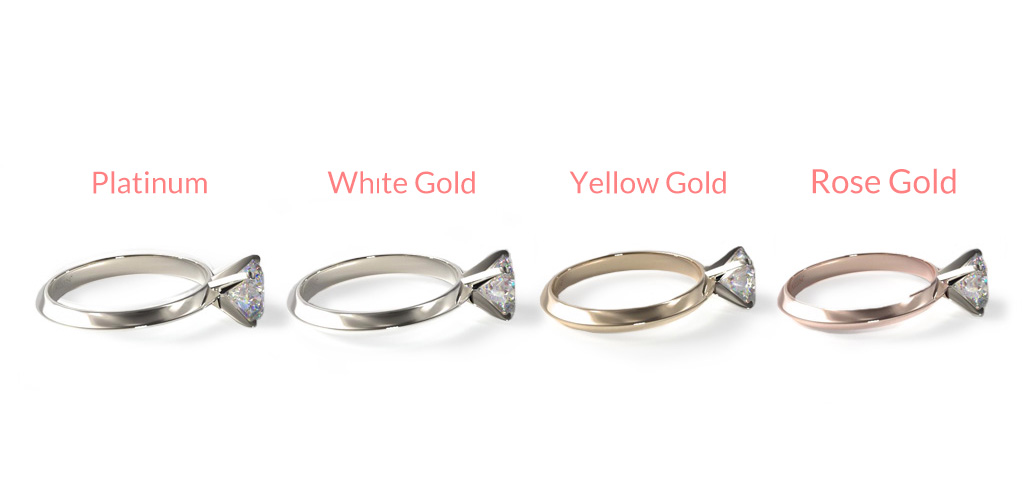 wedding ring metal types how to design the perfect enement ring james allen blog - Types Of Wedding Rings
