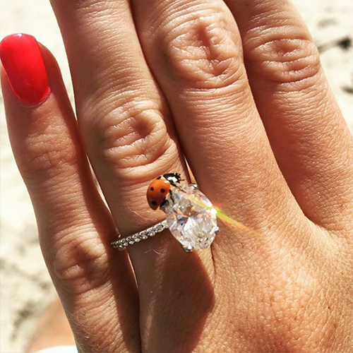 14K White Gold Petite Pave Engagement Ring