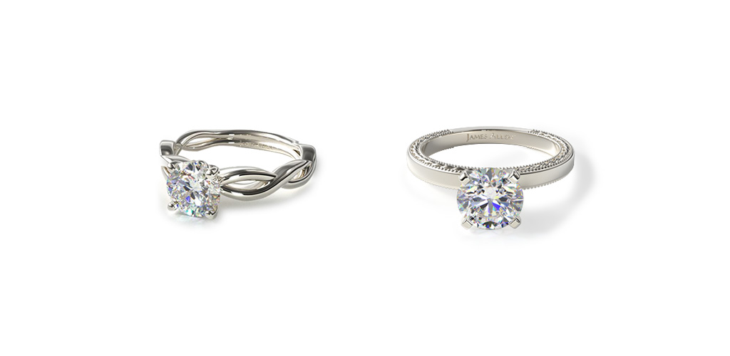 Make Your Diamond Engagement Ring Look Bigger by choosing a white metal