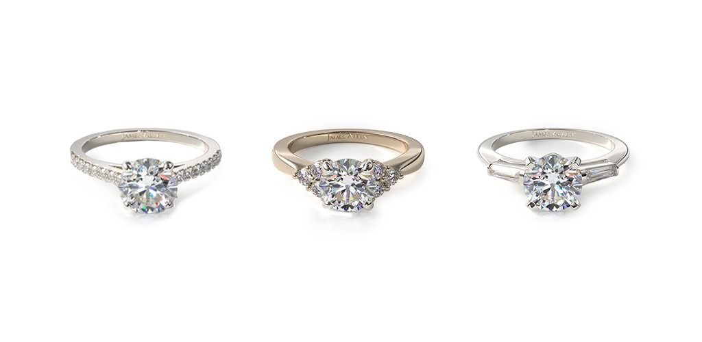 Engagement rings with side stones that make their center diamonds look bigger.