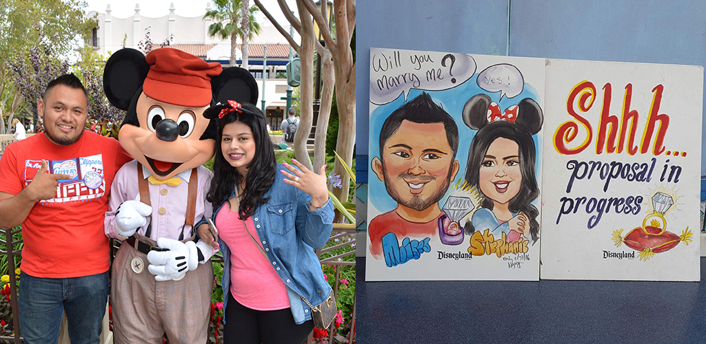 Disney proposal ideas - Stephanie & Moises from Los Angeles, California