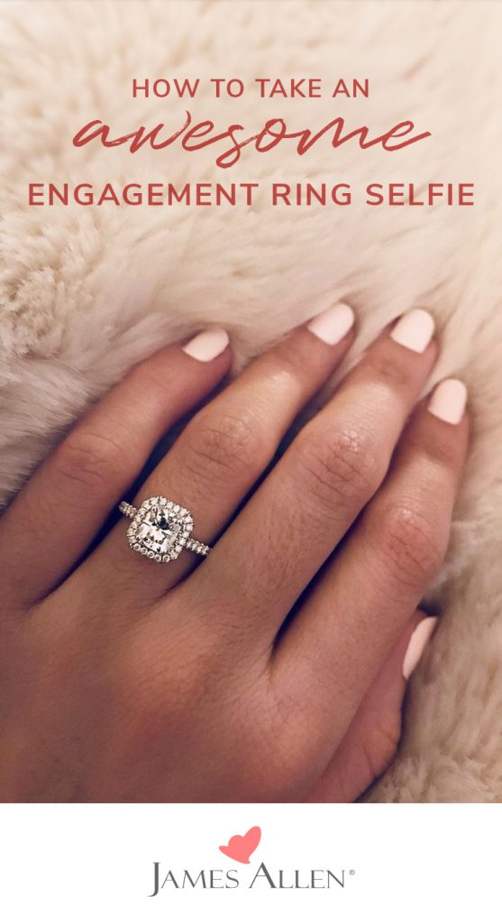 how to take an engagement ring selfie for instagram