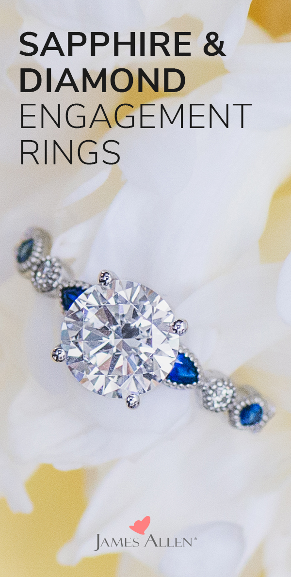 Trending Sapphire and Diamond Engagement Rings