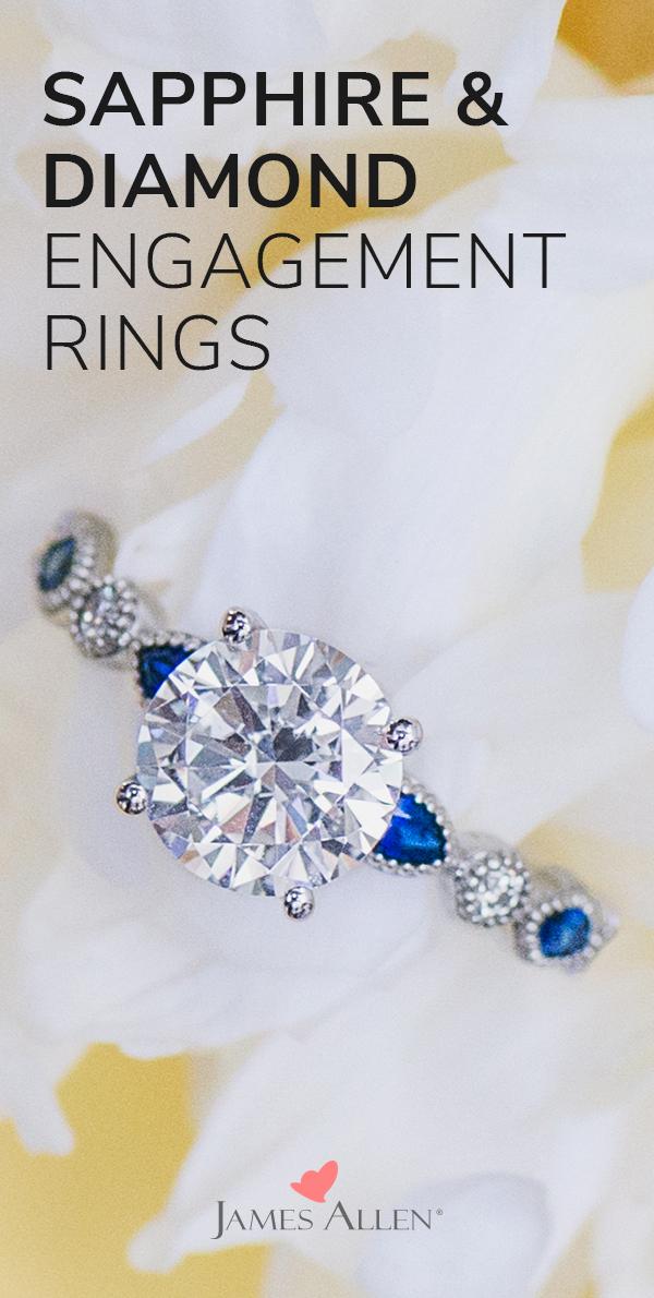 Trending Sapphire and Diamond Engagement Rings