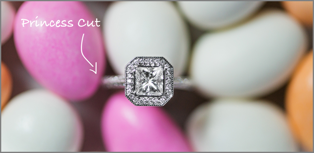 Princess cut diamonds for an affordable engagement ring