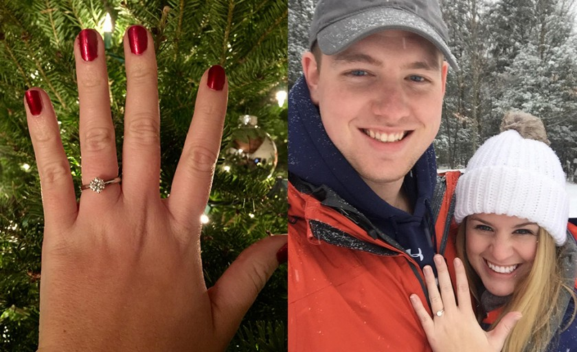 SNOW + SPARKLE = DREAM PROPOSAL