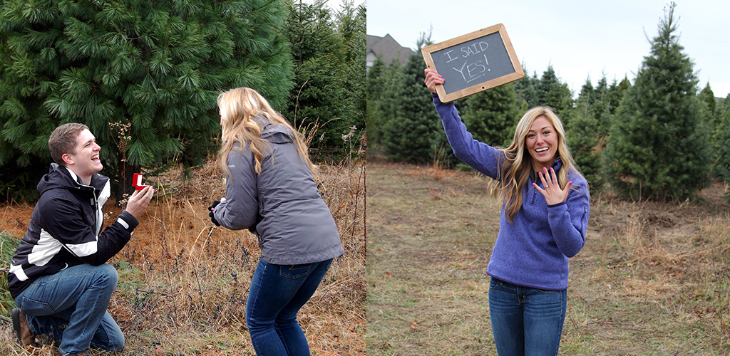 winter proposal ideas - Ashley & Craig from Michigan City, Indiana