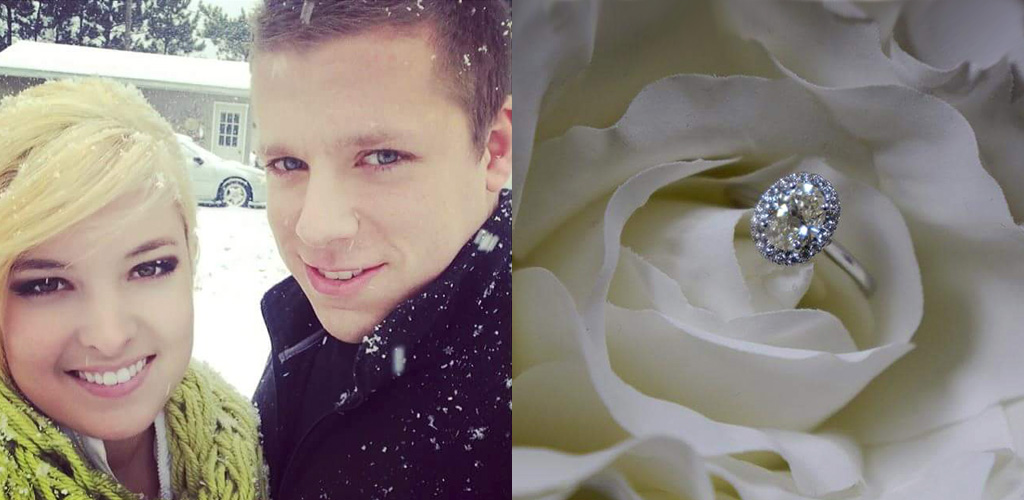 winter proposal ideas - Ashley & Tyler from Grand Rapids, Michigan