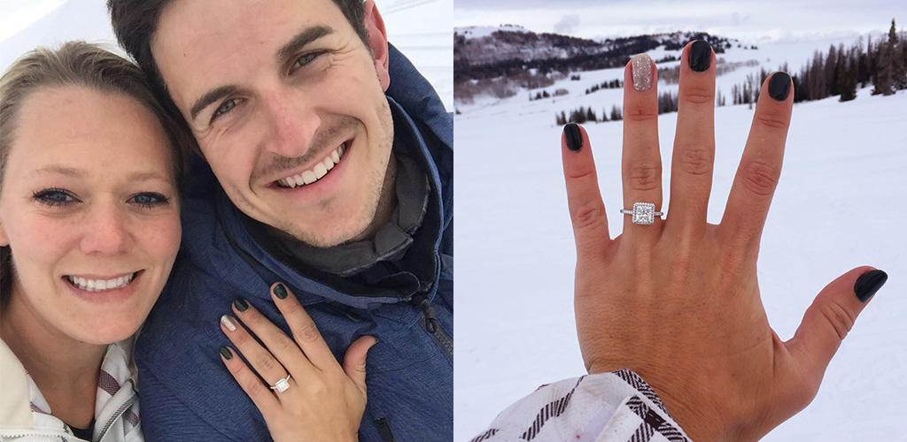 winter proposal ideas - Daynia & Colin from San Diego, California