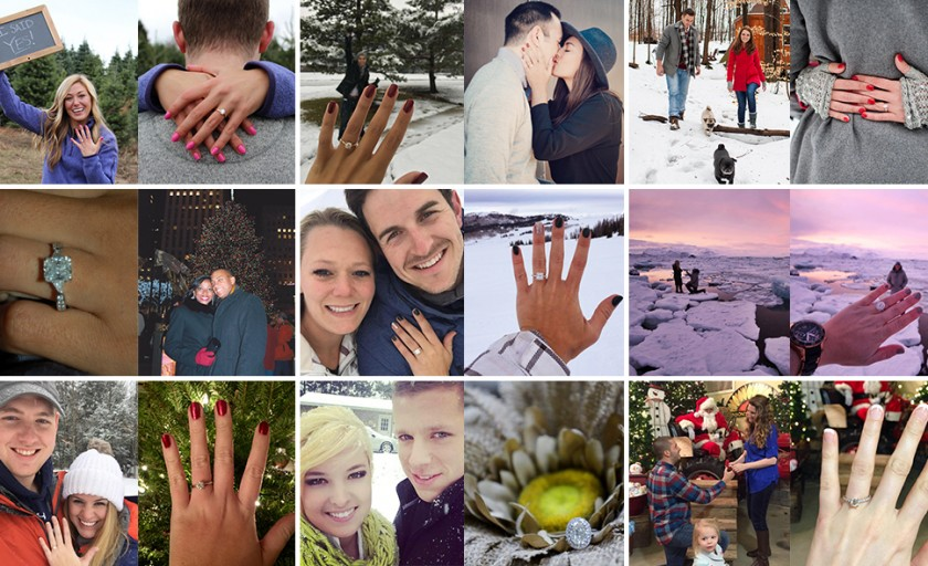 12 Winter Proposal Ideas from James Allen Customers