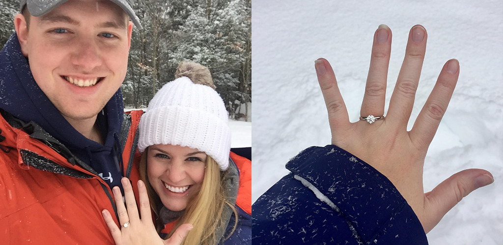 winter proposal ideas - Meghan and Ian from Newmarket, New Hampshire