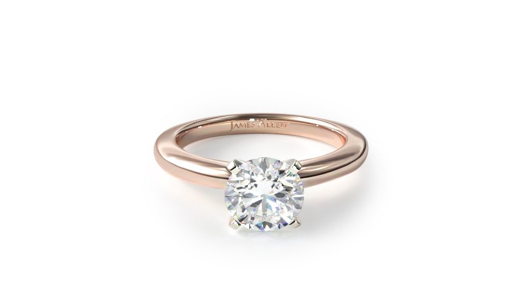 lauren conrad rose gold solitaire engagement ring lookalike