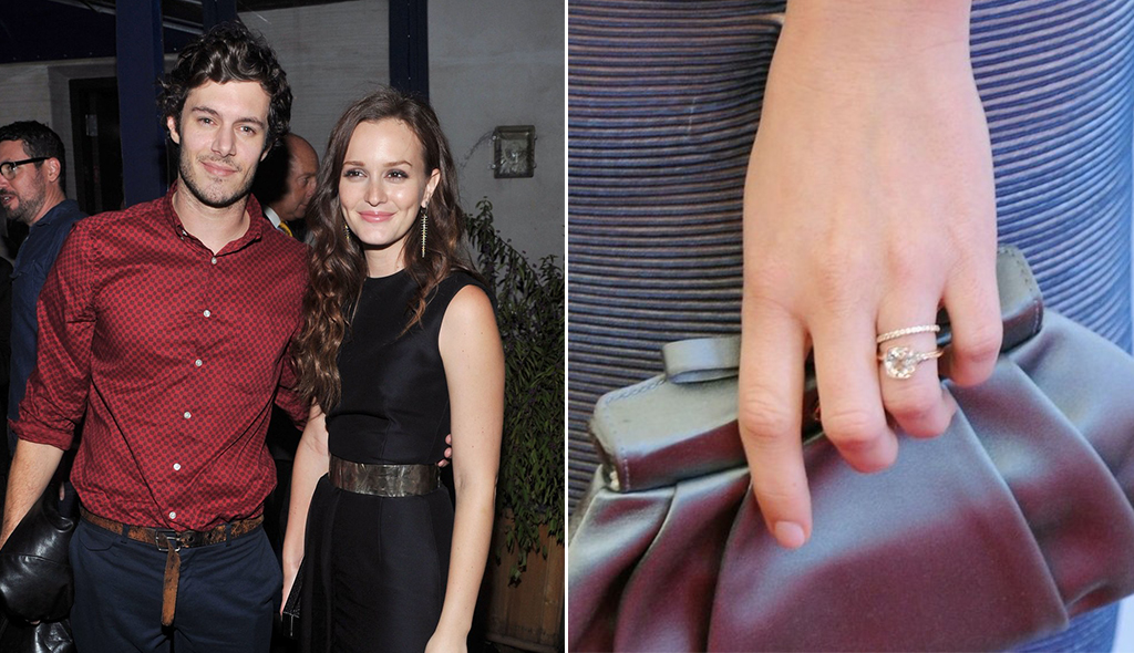 Leighton Meester's Bezel Set Rose Gold Engagement Ring
