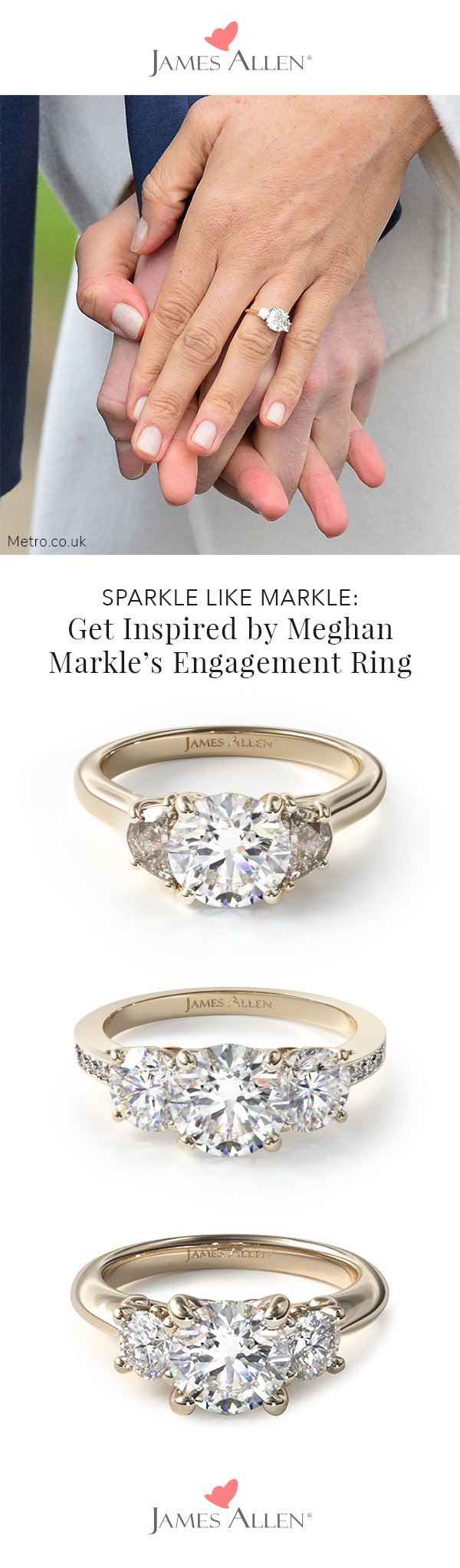 meghan markle's engagement ring pinterest pin