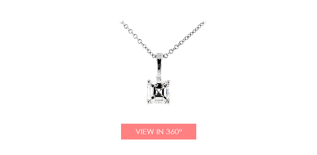 anniversary gift ideas asscher cut diamond pendant
