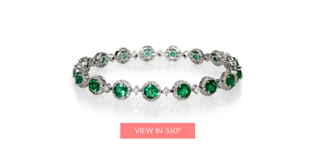 anniversary gift ideas emerald diamond bracelet