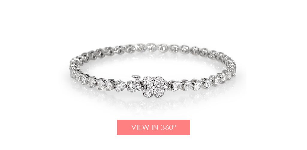 anniversary gift ideas flower clasp bracelet