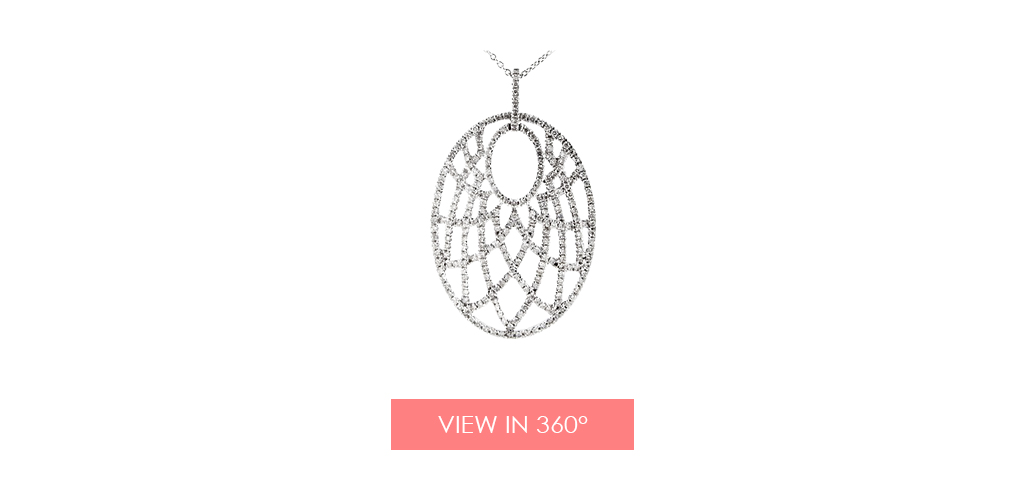 anniversary gift ideas intricate web necklace