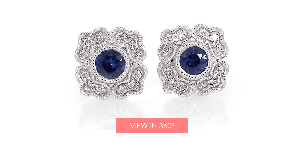 anniversary gift ideas magnolia sapphire earrings