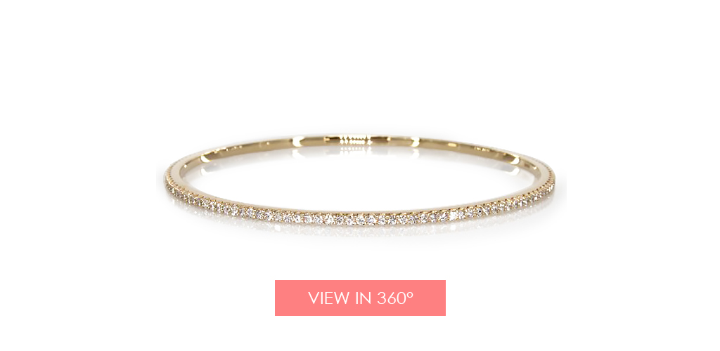 anniversary gift ideas pave diamond bangle