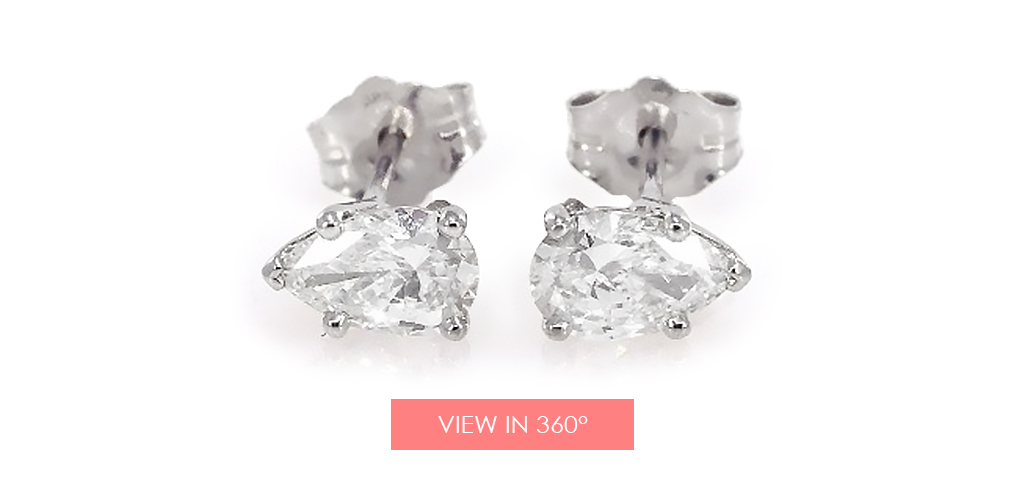 anniversary gift ideas pear diamond earrings