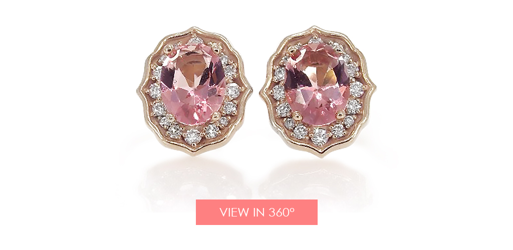 anniversary gift ideas pink topaz earrings