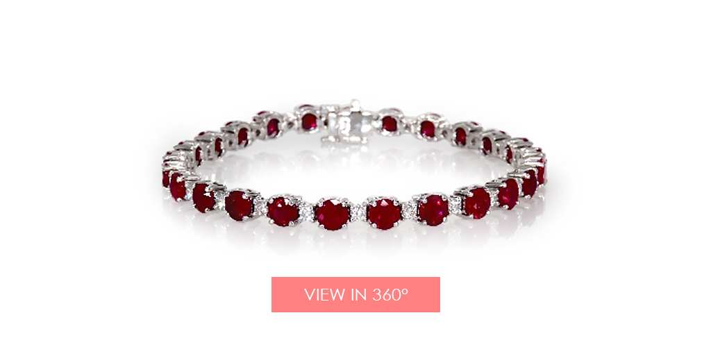 anniversary gift ideas ruby bracelet