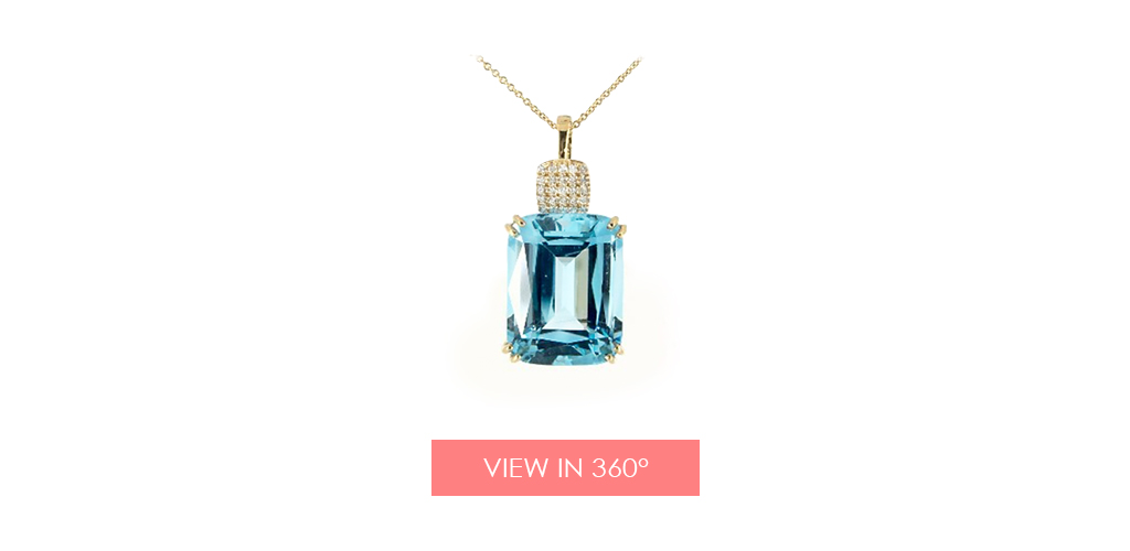 anniversary gift ideas topaz diamond necklace