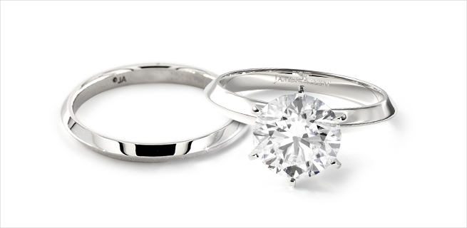 completely classic matching wedding rings
