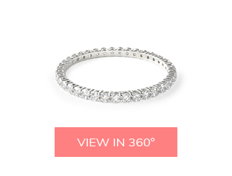 contoured pave matching wedding rings