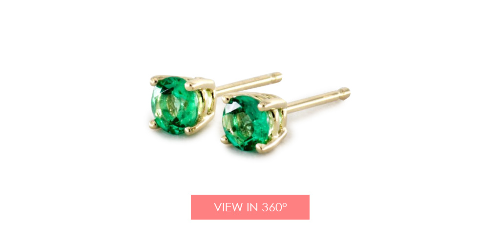 emerald earrings holiday gift guide