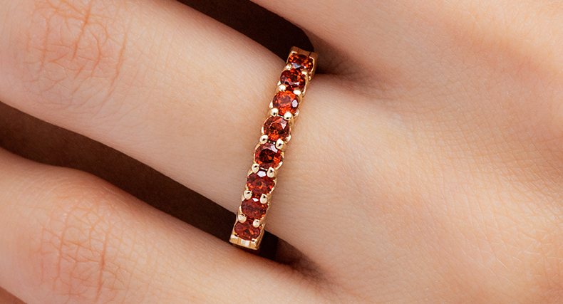 garnet january birthstone perfect fit wedding ring