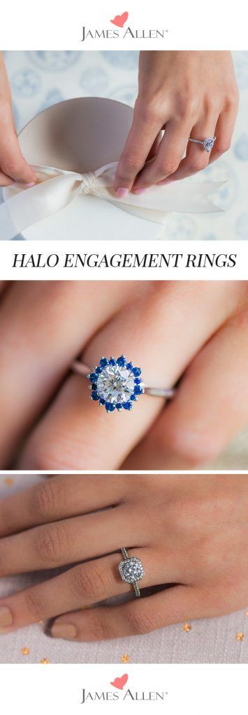 halo engagement rings pinterest pin
