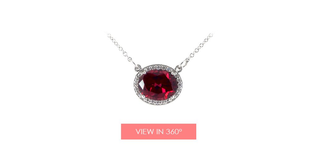 jewelry trends garnet diamond halo necklace