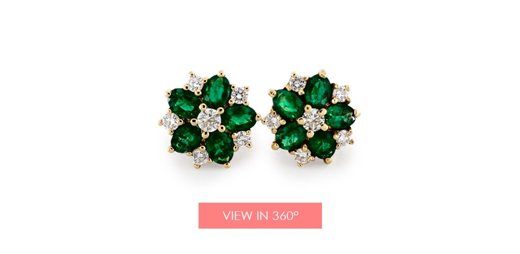 jewelry trends green sapphire flower earrings