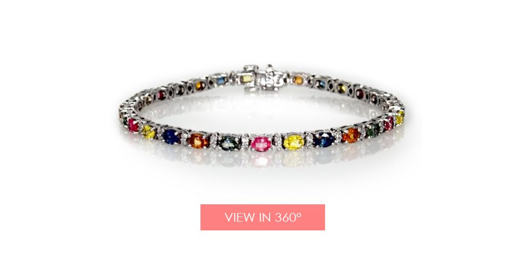 jewelry trends multi color sapphire bracelet