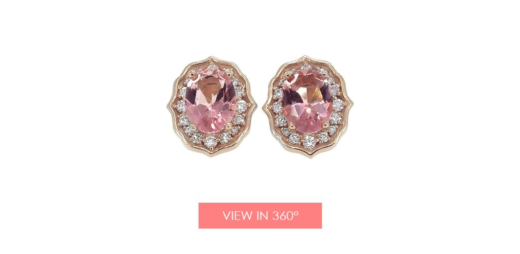 jewelry trends rose gold art deco earrings