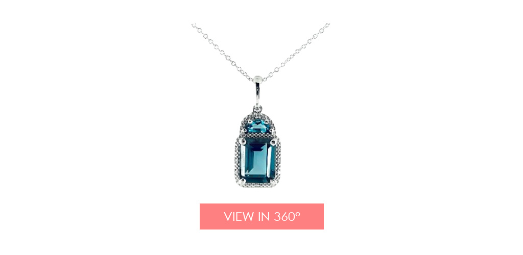 london blue topaz diamond necklace holiday gift guide