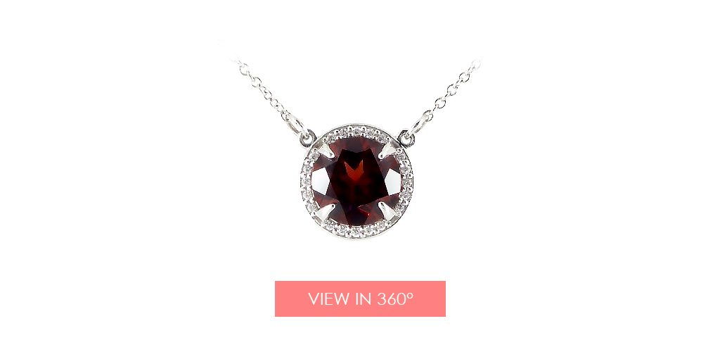 mozambique garnet necklace january birthstone