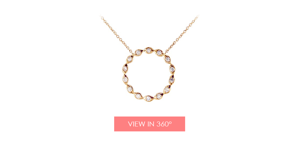 open circle diamond necklace holiday gift guide