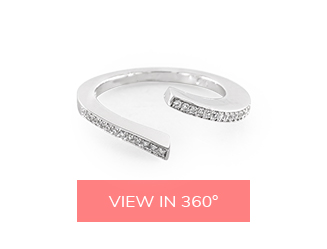 open twist pave matching wedding rings